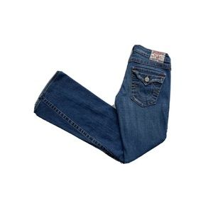 True Religion Joey Flare Low Rise Stretch Jeans